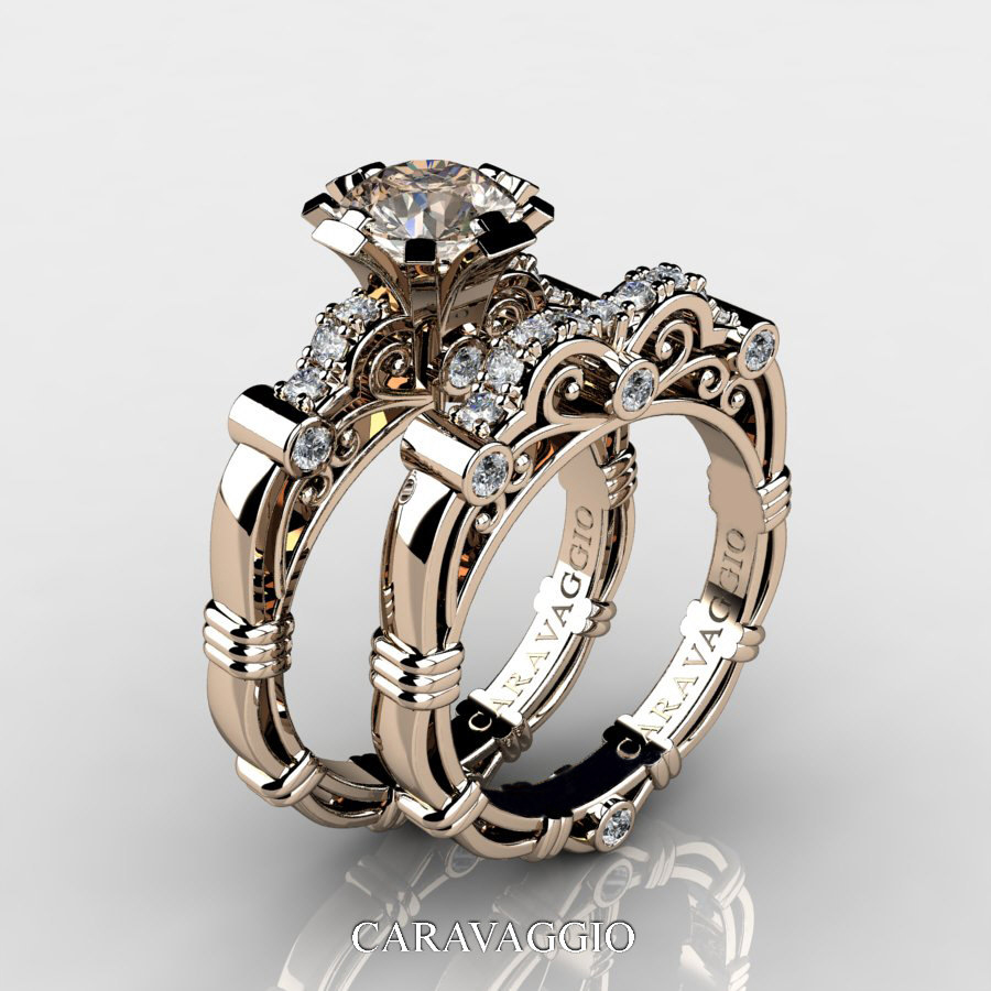 ring solitaire vs vintage wedding tcw rings diamond to products preadored engagement champagne