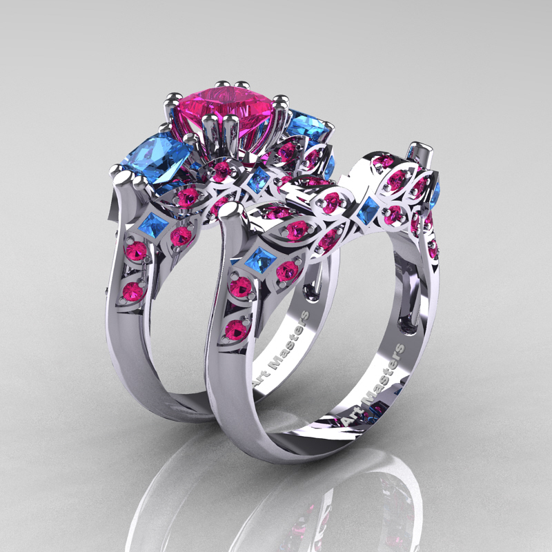 diamond rose from amp pink ring thomas stone gold ellie rings sabo image
