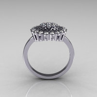Classic 14K White Gold 0.50 CTW Diamond Cluster Bridal Ring R107-14KWGD-1