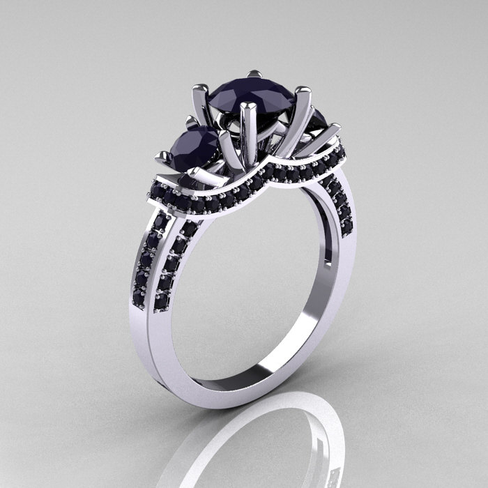 engagement diamond cut and t wedding in stone enhanced rings buckle w white black cushion ring