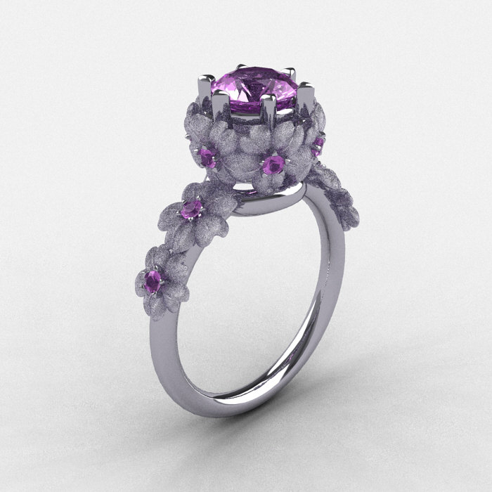 french ring wgdla engagement diamond ct classic lilac gold amethyst rings princess white p