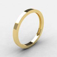 Modern Bridal 10K Yellow Gold Wedding Band R186B-10KYG-1