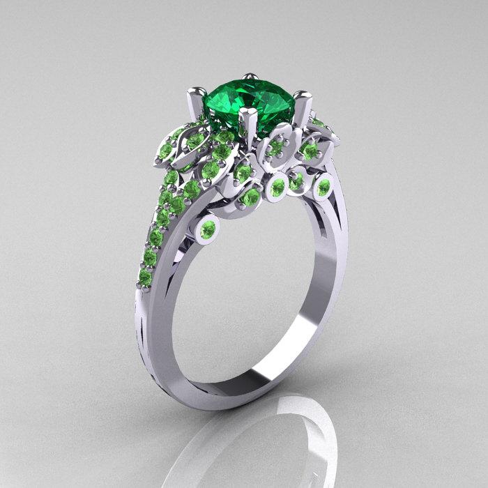 Amethyst Peridot Diamond Ring