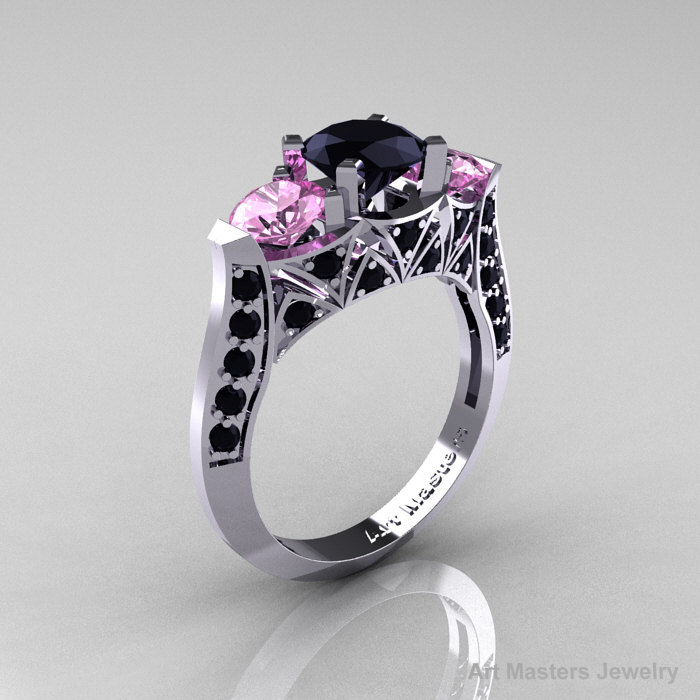three classic solitaire lnlx product rings sapphire ring il stone fullxfull black gold pink