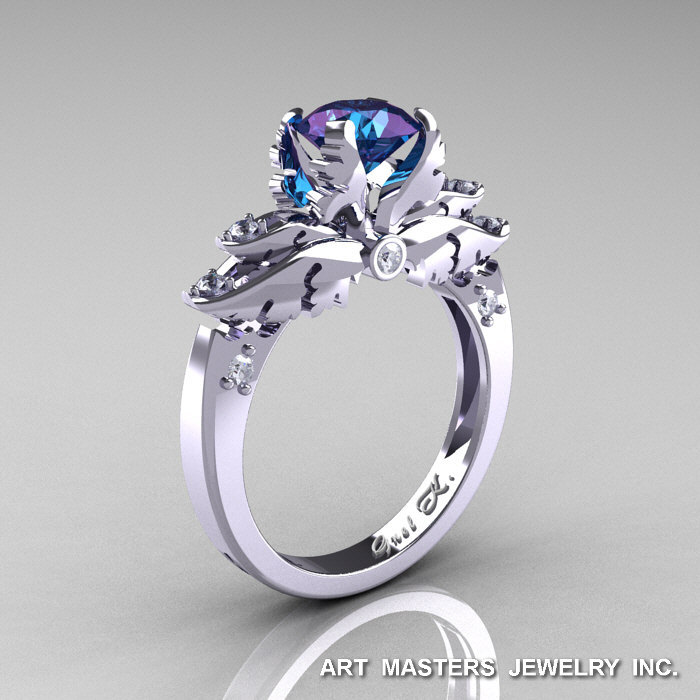 alexandrite platinum natural estate hovik rings ring jewelry engagement tcabuff designer diamond and