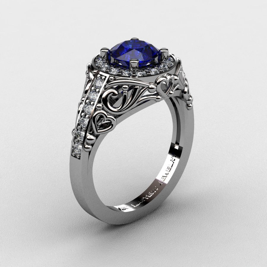 Platinum Wedding Rings.Italian 950 Platinum 1 0 Ct Blue Sapphire Diamond Engagement Ring Wedding Ring R280 Platdbs