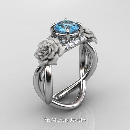 Nature-Inspired-14K-White-Gold-1-Ct-Blue-Topaz-Diamond-Rose-Vine-Engagement-Ring-R294-14KWGDBT-P