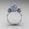 Art-Masters-Vintage-14K-White-Gold-3-Ct-Aquamarine-Solitaire-Ring-Wedding-Ring-R167-14KWGAQ-F