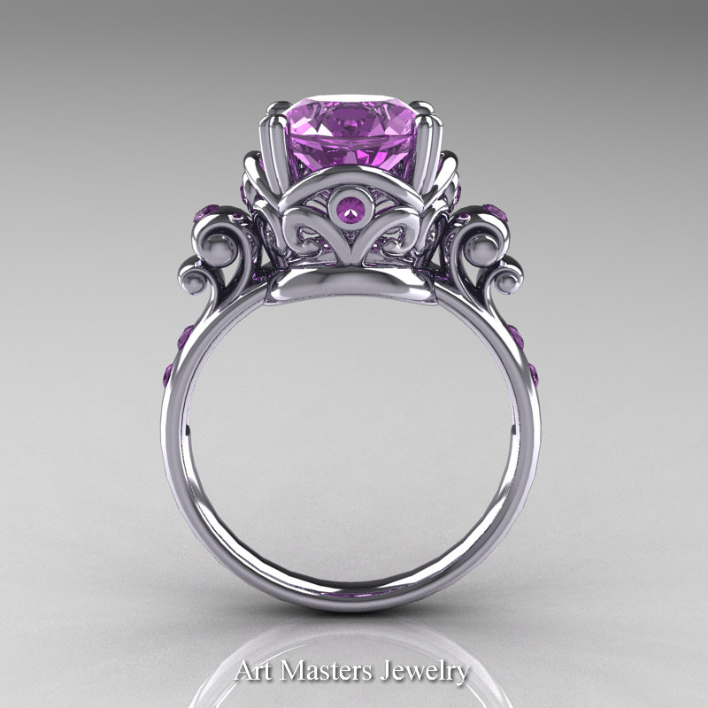 Art Masters Vintage 14K White Gold 3 Ct  ...