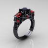 Classic-14K-Black-Gold-Three-Stone-Princess-Black-Diamond-Ruby-Solitaire-Ring-R500-14KBGRBD-P