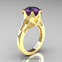 Modern-14K-Yellow-Gold-3-Carat-Chrysoberyl-Alexandrite-Crown-Solitaire-Wedding-Ring-R580-14KYGAL-P