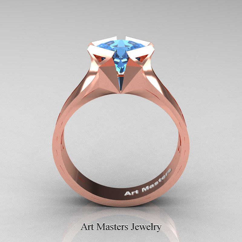 Neomodern 14k Rose Gold 1 5 Carat Princess