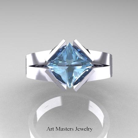 Neomodern-14K-White-Gold-1-5-Carat-Princess-Aquamarine-Engagement-Ring-R389-14KWGAQ-T