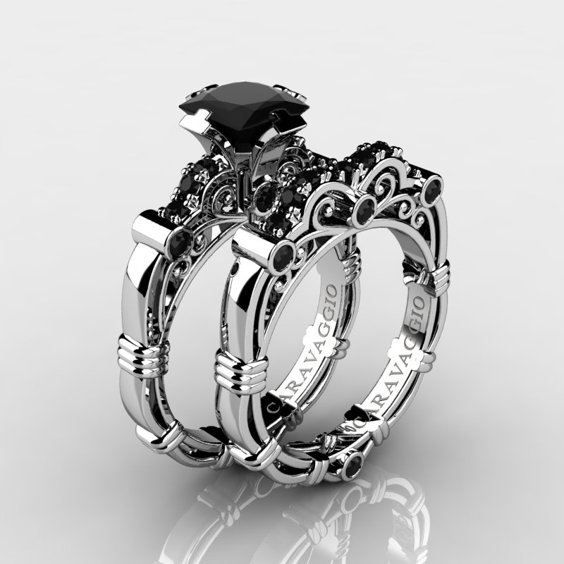 rings black heaven buy engagement diamond online