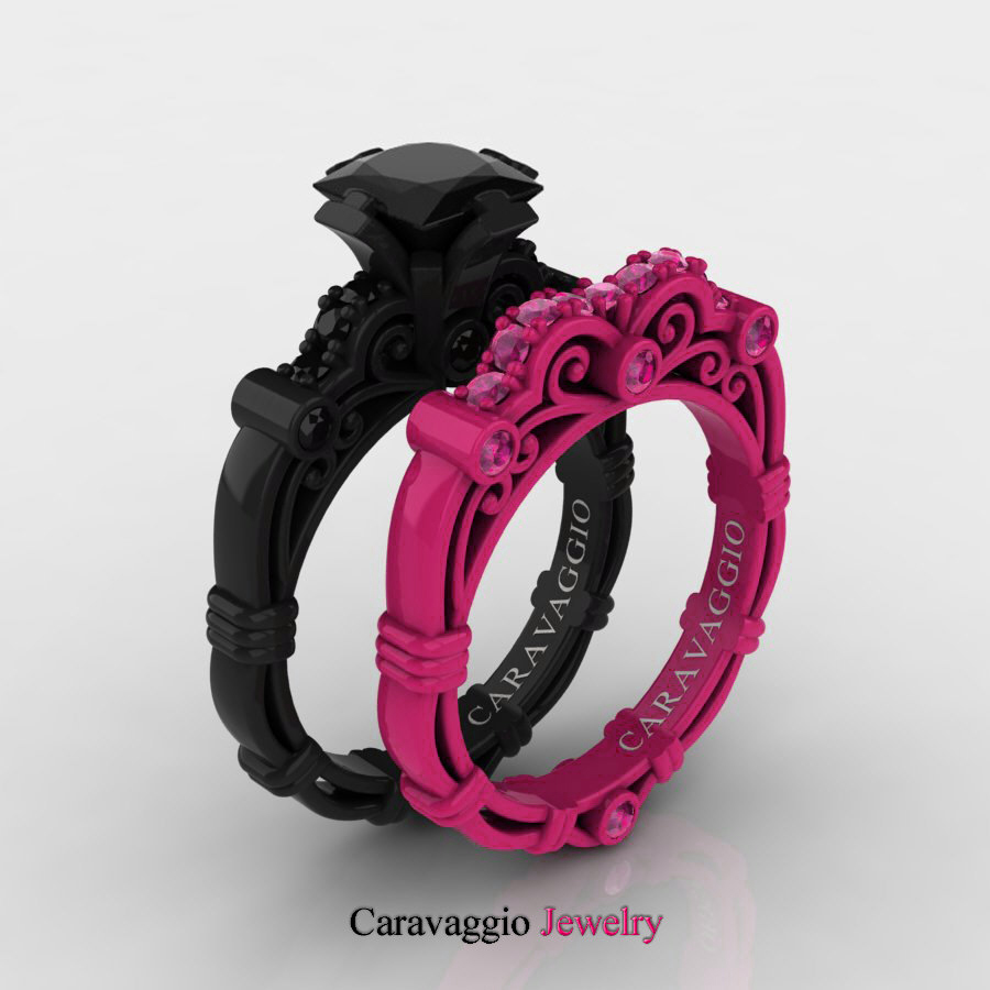 Superb Caravaggio London 14K Black And Red Gold 1  Amazing Pictures