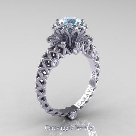 Caravaggio-Lace-14K-White-Gold-1-0-Carat-Aquamarine-Diamond-Engagement-Ring-R634-14KWGDAQ-P