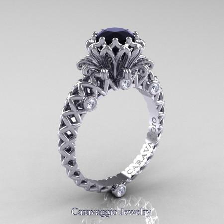Caravaggio-Lace-14K-White-Gold-1-0-Carat-Black-and-White-Diamond-Engagement-Ring-R634-14KWGDBD-P