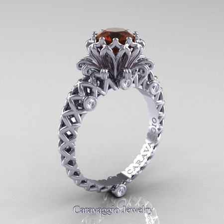 Caravaggio-Lace-14K-White-Gold-1-0-Carat-Brown-and-White-Diamond-Engagement-Ring-R634-14KWGDBRD-P