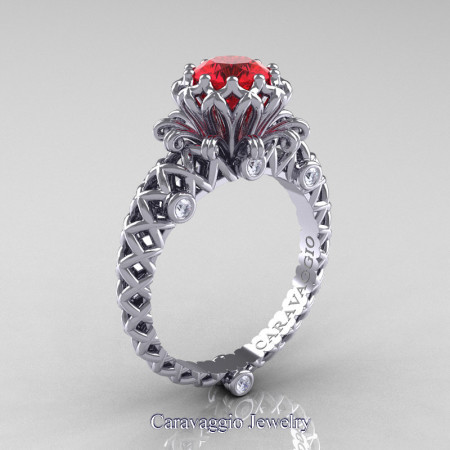 Caravaggio-Lace-14K-White-Gold-1-0-Carat-Ruby-Diamond-Engagement-Ring-R634-14KWGDR-P