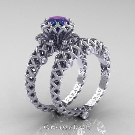 Caravaggio-Lace-14K-White-Gold-1-Carat-Alexandrite-Diamond-Engagement-Ring-Wedding-Band-Bridal-Set-R634S-14KWGDAL-P