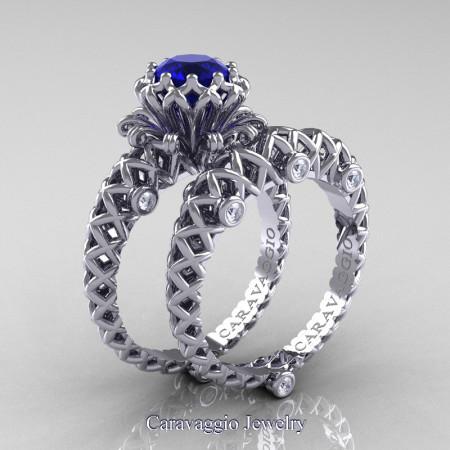 Caravaggio-Lace-14K-White-Gold-1-Carat-Blue-Sapphire-Diamond-Engagement-Ring-Wedding-Band-Bridal-Set-R634S-14KWGDBS-P