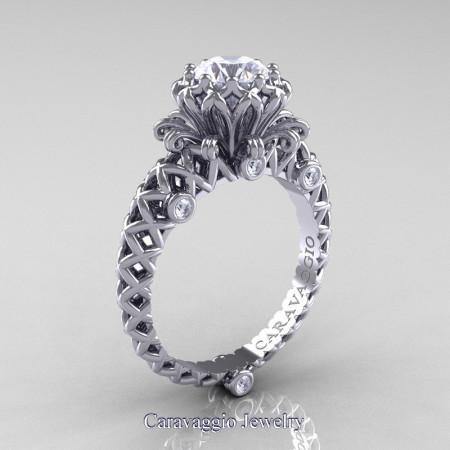 Caravaggio-Renaissance-14K-White-Gold-1-0-Carat-Diamond-Lace-Engagement-Ring-R634-14KWGD-P