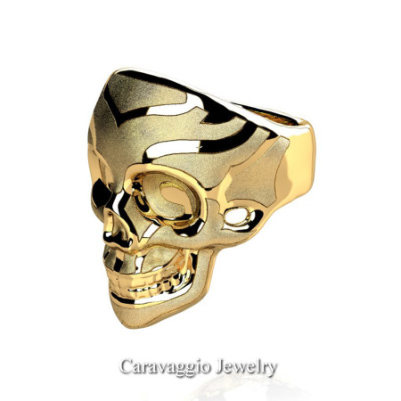 Caravaggio-Mens-14K-Yellow-Gold-Skull-Ring-R638-14KYGS2-P