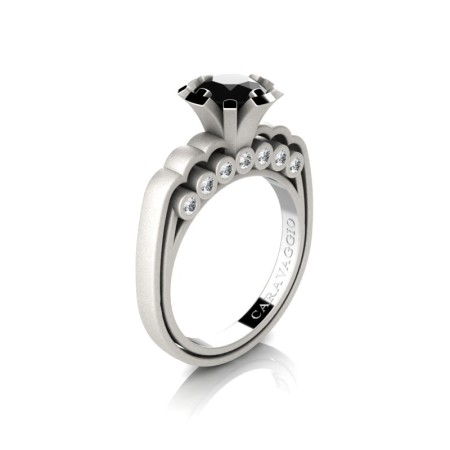 Caravaggio-Classic-14K-Matte-White-Gold-1-0-Carat-Black-and-White-Diamond-Engagement-Ring-R637-14KMWGDBD-P