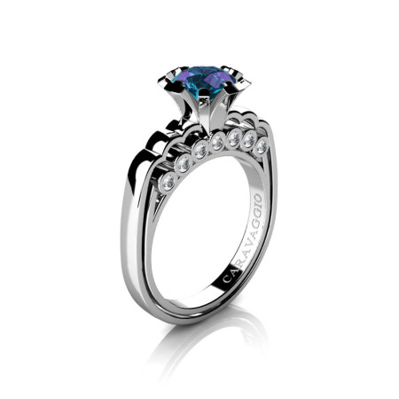 Caravaggio-Classic-14K-White-Gold-1-0-Carat-Alexandrite-Diamond-Engagement-Ring-R637-14KWGDAL-P