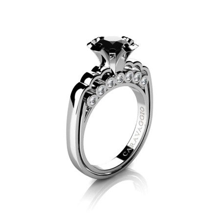 Caravaggio-Classic-14K-White-Gold-1-0-Carat-Black-and-White-Diamond-Engagement-Ring-R637-14KWGDBD-P