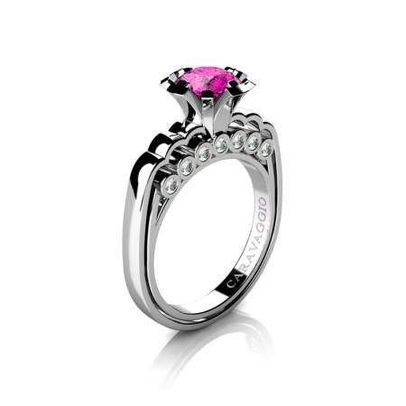 Caravaggio-Classic-14K-White-Gold-1-0-Carat-Pink-Sapphire-Diamond-Engagement-Ring-R637-14KWGDPS-P