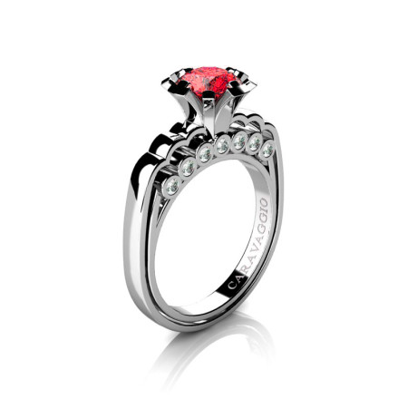Caravaggio-Classic-14K-White-Gold-1-0-Carat-Ruby-Diamond-Engagement-Ring-R637-14KWGDR-P