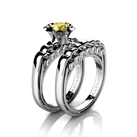 Caravaggio-Classic-14K-White-Gold-1-0-Carat-Yellow-Sapphire-Diamond-Engagement-Ring-Wedding-Band-Set-R637S-14KWGDYS-P