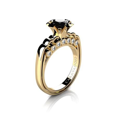 Caravaggio-Classic-14K-Yellow-Gold-1-0-Carat-Black-and-White-Diamond-Engagement-Ring-R637-14KYGDBD-P