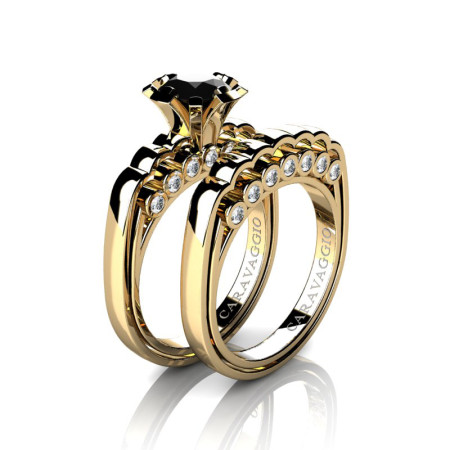 Caravaggio-Classic-14K-Yellow-Gold-1-0-Carat-Black-and-White-Diamond-Engagement-Ring-Wedding-Band-Set-R637S-14KYGDBD-P