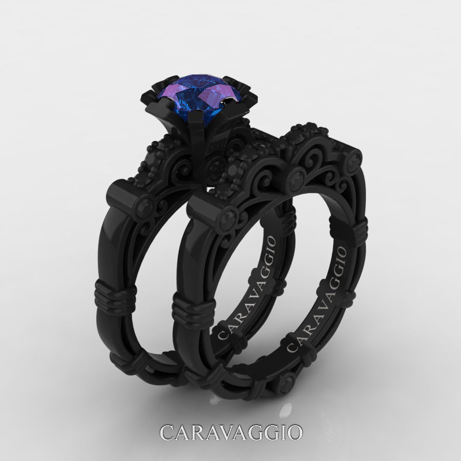 ct set caravaggio masters band white gold carat diamond product sapphire topaz rings black art ring caravagio p engagement wedding