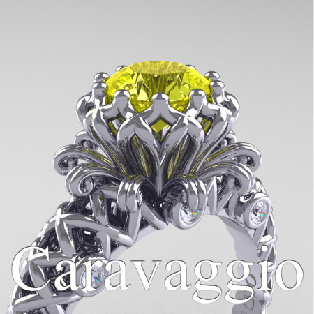 Caravaggio-Lace-14K-White-Gold-1-0-Carat-Yellow-Sapphire-Diamond-Engagement-Ring-R634-14KWGDYS-PXL