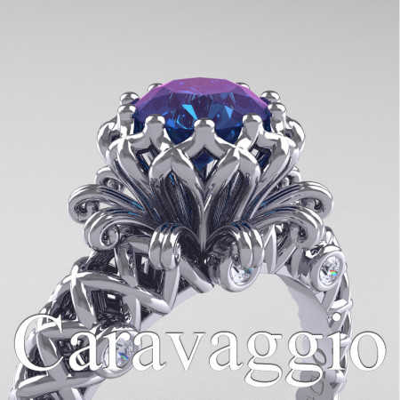 Caravaggio-Lace-14K-White-Gold-1-Carat-Alexandrite-Diamond-Engagement-Ring-R634-14KWGDAL-PXL