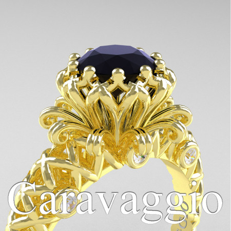 Caravaggio-Lace-14K-Yellow-Gold-1-0-Carat-Black-and-White-Diamond-Engagement-Ring-R634-14KYGDBD-PXL