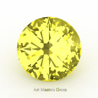 Art Masters Gems Calibrated 0.5 Ct Round Canary Yellow Sapphire Created Gemstone RCG0050-CYS