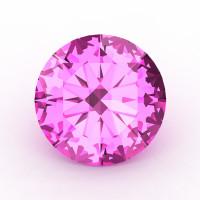 Art Masters Gems Calibrated 0.5 Ct Round Light Pink Sapphire Created Gemstone RCG0050-LPS