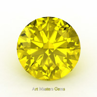 Art Masters Gems Calibrated 1.25 Ct Round Yellow Sapphire Created Gemstone RCG0125-YS