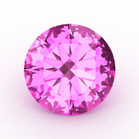 Art Masters Gems Calibrated 1.5 Ct Round Light Pink Sapphire Created Gemstone RCG0150-LPS