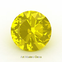 Art Masters Gems Calibrated 1.5 Ct Round Yellow Sapphire Created Gemstone RCG0150-YS