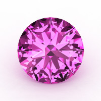 Art Masters Gems Calibrated 2.0 Ct Round Light Pink Sapphire Created Gemstone RCG0200-LPS