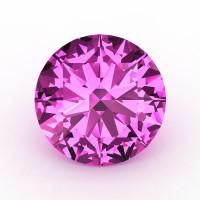 Art Masters Gems Calibrated 2.0 Ct Round Light Pink Sapphire Created Gemstone RCG0200-LPS