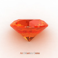 Art Masters Gems Calibrated 3.0 Ct Round Orange Sapphire Created Gemstone RCG0300-OS