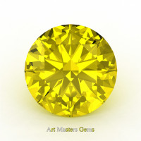 Art Masters Gems Calibrated 3.0 Ct Round Yellow Sapphire Created Gemstone RCG0300-YS