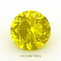 Art Masters Gems Calibrated 4.0 Ct Round Yellow Sapphire Created Gemstone RCG0400-YS