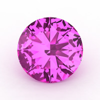 Art Masters Gems Calibrated 5.0 Ct Round Light Pink Sapphire Created Gemstone RCG0500-LPS
